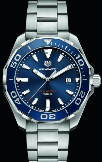 Vigilanza Di Automatiche Tag Imitazioni Heuer Aquaracer Cronografo Quadrante Blu