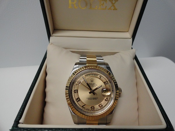 Repliche Rolex Two Tone Day Date Con Quadrante Champagne